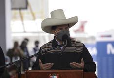 """Pedro Castillo: """"Seguiremos luchando contra el terrorismo para que no nos vengan a mentir con que tenemos vínculos"""""""