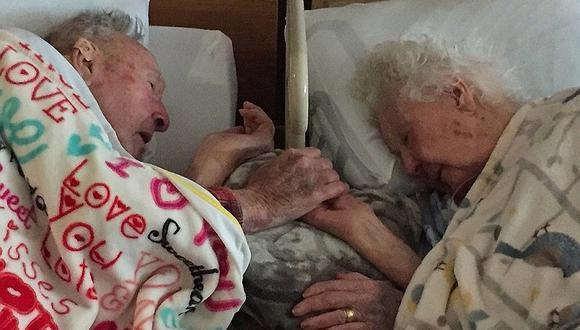 Pareja de ancianos tuvo conmovedora despedida tras 77 años de casados