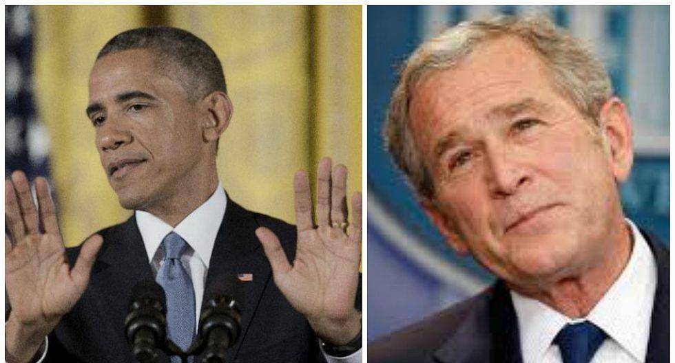 Así reaccionó Obama cuando Bush lo interrumpió para pedirle extraño favor
