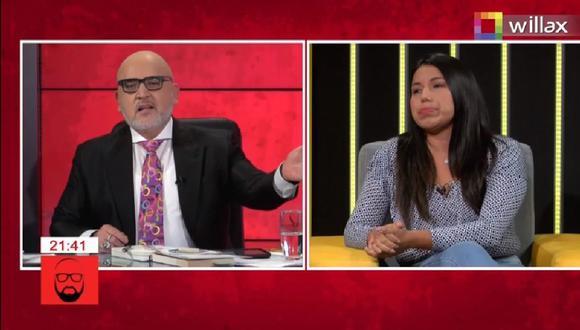 Beto Ortiz y Zaira Arias tuvieron tensa discusión. (Captura Willax)