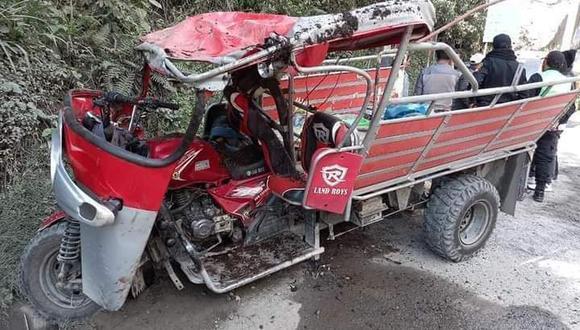 En este accidente también resultaron con heridas un total de 4 ocupantes del vehículo. (Foto: Difusión)