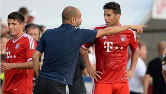 Bayern Munich: A Claudio Pizarro le cuesta adaptarse al estilo de Josep Guardiola