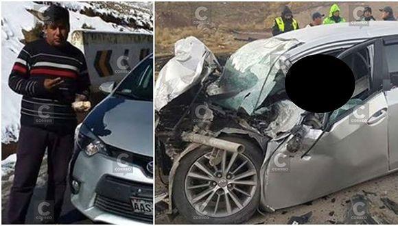 Auto choca con camión y chofer muere atrapado en el interior de unidad