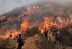 Incendio forestal se propaga por tres distritos en Cusco (VIDEOS)