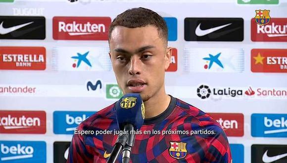 Sergiño Dest llegó a Barcelona procedente del Ajax. (Fuente: FC Barcelona)