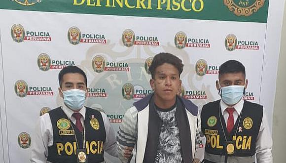 """Pisco: Capturan a integrante de """"Los chalecos de caballito"""" en Pisco"""