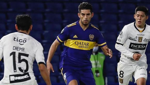 El 'Kaiser' sufrió duro choque en los entrenamientos de Boca Juniors. (Foto: Instagram @carloszambrano5)