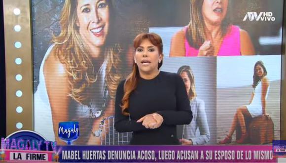 Magaly Medina habla sobre denuncia de Mabel Huertas (Foto: captura)