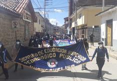 Estudiantes  de Universidad Nacional de Huancavelica y de Instituto Pedagógico se unen en protestas