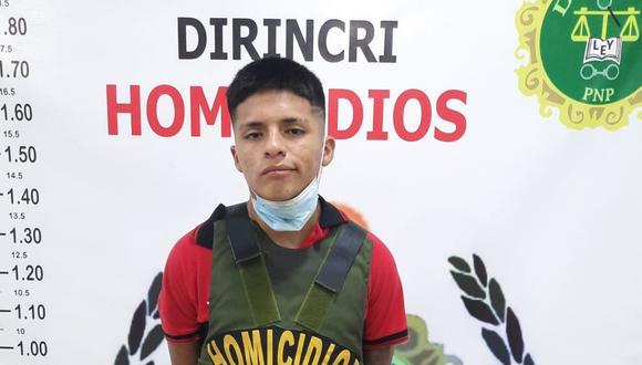 Jusseppy Flores Herrera fue capturado por la Policía en flagrante delito.