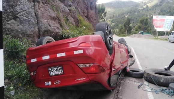 El accidente ocurrió en las vías de Challhuapuquio - Putacca. Vecinos informaron el caso a los efectivos policiales.