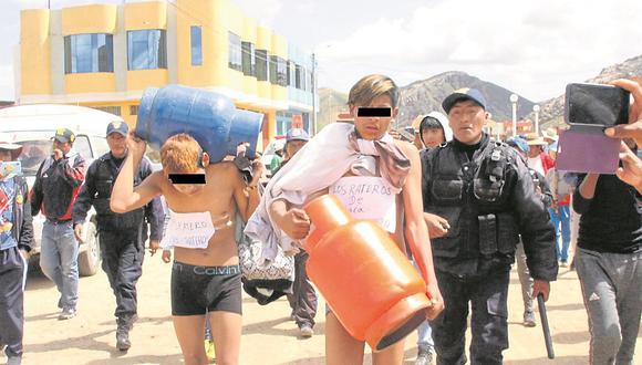 Capturan a ladrones adolescentes en la ciudad de San Antonio de Putina