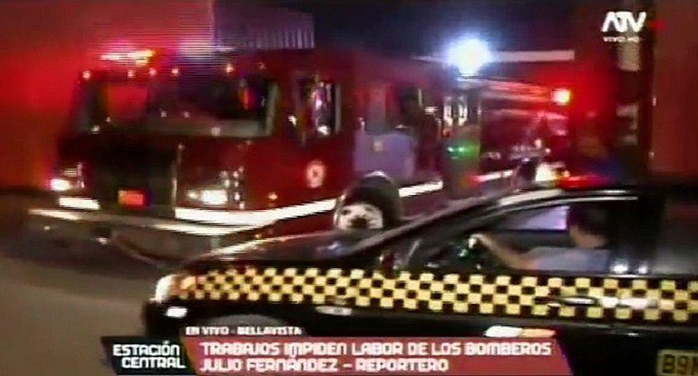 Obra complica labor de bomberos en la atención de emergencias (VIDEO)