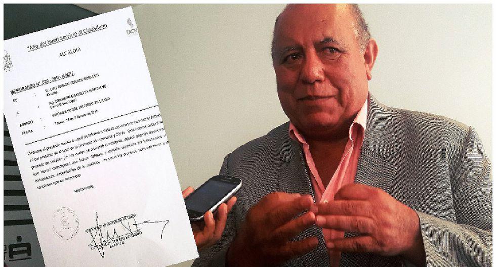 Alcalde busca responsables de incendio que afectó Municipalidad de Tacna