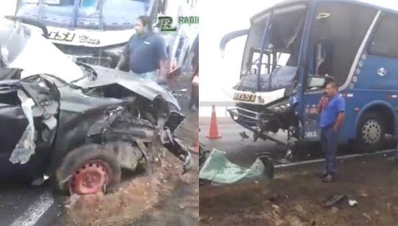 Ancón: Varios heridos deja accidente en la variante de Pasamayo (VIDEO)