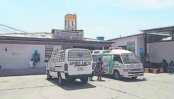 Víctor Hugo Pompa Aguilar fue auxiliado y trasladado al hospital regional JAMO donde falleció.