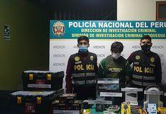 Policías recuperan cuantioso botín de aparatos electrónicos