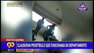 Miraflores: clausuran prostíbulo clandestino que funcionaba en edificio multifamiliar