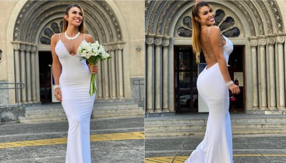 La modelo brasileña compartió imágenes de su boda en sus redes sociales. | Foto: Instagram.