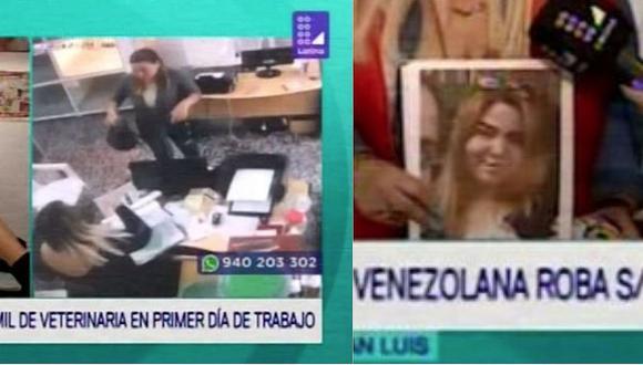 Venezolana robó S/18 mil en veterinaria durante su primer día de trabajo (VIDEO)