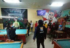 Billar funcionaba sin licencia y durante el toque de queda en Villa El Salvador