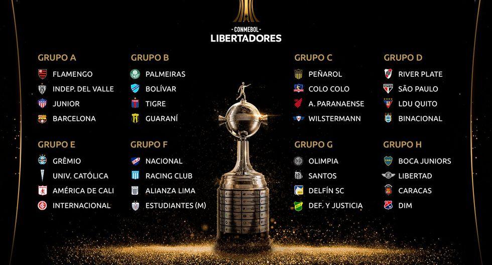 Copa Libertadores: así quedaron conformados los grupos