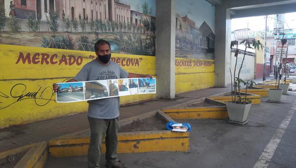 Alessandro Ricalde Ricalde ejecutó la obra junto con otros artistas a través del Proyecto Takana Huarco. (Foto: Adrian Apaza)