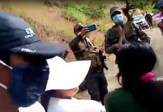 Efectivos PNP fueron retenidos por enardecidos pobladores en Chungui