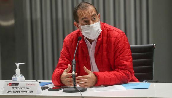 """El primer ministro, Walter Martos, aseguró que el presidente Martín Vizcarra """"no tiene absolutamente nada que esconder"""".  (Foto: PCM)"""