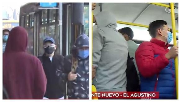 Varias de las personas que usan estos medios de transporte indicaron que este lunes comprarían el protector facial debido a que recién se enteraron de la disposición del Gobierno. (Video: América Noticias)