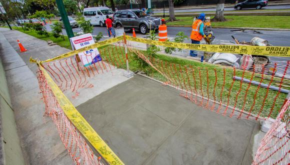 Obras buscan brindar mayor seguridad a los peatones que transitan por la Av. Salaverry.
