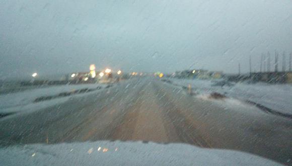 Alertan sobre nevadas en carretera Arequipa - Puno