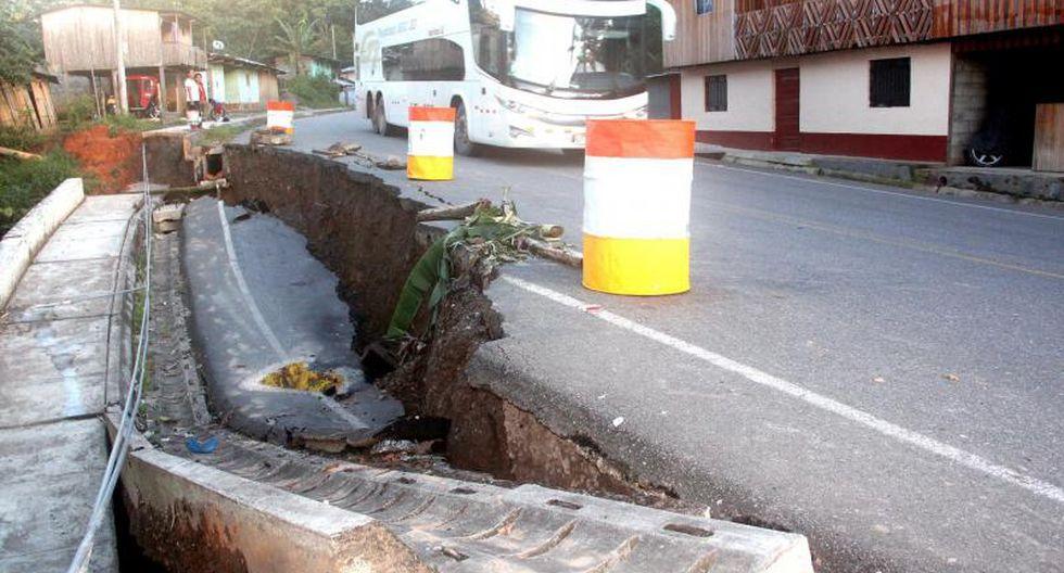 Colapsa plataforma de carretera Federico Basadre
