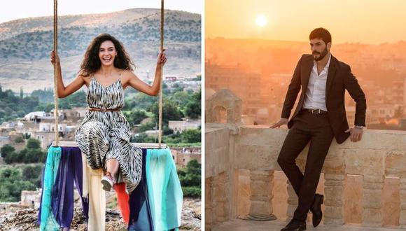 """Akin Akinözü y Ebru Shain son los protagonistas de """"Hercai"""" y gracias a sus papeles han ganado premios. (Foto: Instagram @rebrusahin/ @akinakinozu)"""