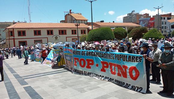 Los comerciantes de la ciudad de Puno, pretenden volver a la avenida El Sol Foto: Javier Calderón