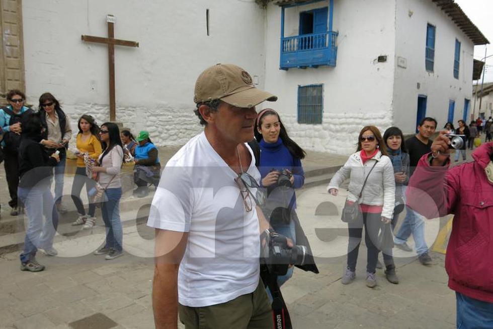Antonio Banderas llegó al Cusco y hará el Camino Inca