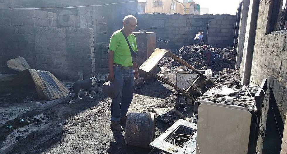 Una familia quedó en el desamparo tras incendio que los despojó de su casa