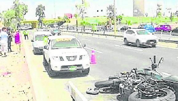 Cinco personas resultan heridas en tres accidentes de tránsito