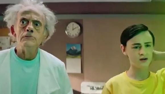 "Christopher Lloyd se convierte en Rick en video promocional de ""Rick and Morty"". (Foto: Captura de YouTube)"