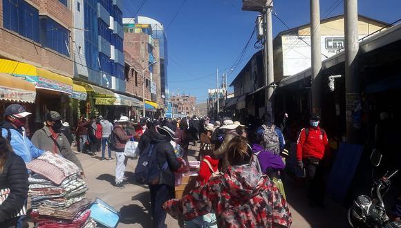 Reinicio de actividad comercial provocó caos y desorden en la ciudad de Juliaca