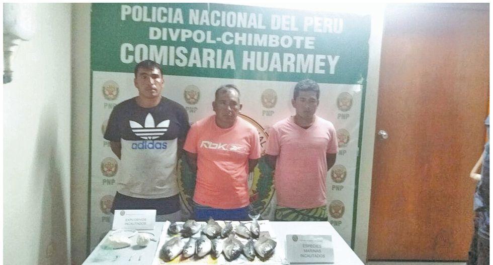 Huarmey: detienen a tres personas que se dedicarían a pescar con explosivos