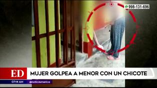 Mujer golpeó a su menor hija con chicote y fue grabada por sus vecinos para detener agresión (VIDEO)