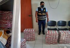 Incautan 60 mil cigarrillos de contrabando en camarote de ómnibus en Tumbes