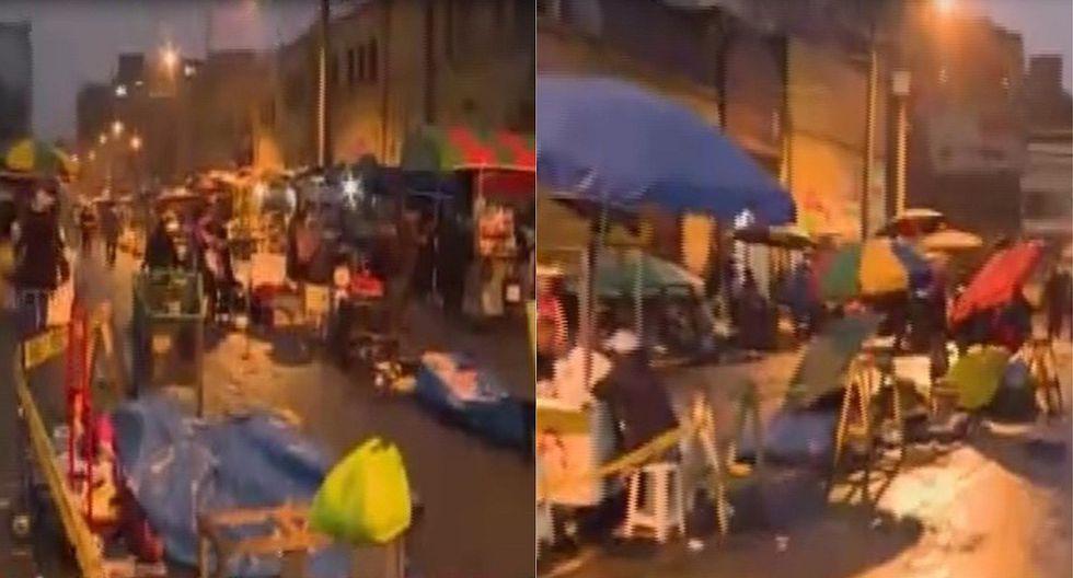 """Ambulantes se resisten a dejar las calles en La Victoria: """"De acá vivimos"""" (VIDEO)"""