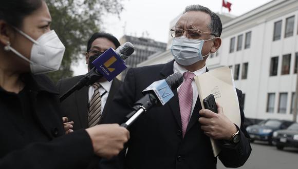 """Congresista Edgar Alarcón, titular de la Comisión de Fiscalización, dijo que conferencia de 'Richard Swing'  fue """"coordinada desde Palacio"""". (Foto: César Campos/@photo.gec)"""
