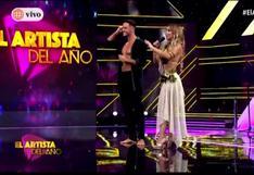 """Paula Manzanal aclara que no estaba planeado el beso con Fabio Agostini en """"El Artista del Año"""" (VIDEO)"""