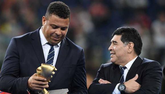 Ronaldo recordó una anécdota con Diego Maradona. (Foto: AFP)