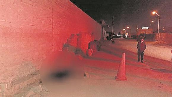 Lo golpearon con un bloque de adobe y lo dejaron en la calle Leoncio Prado, en el centro poblado menor de El Milagro.