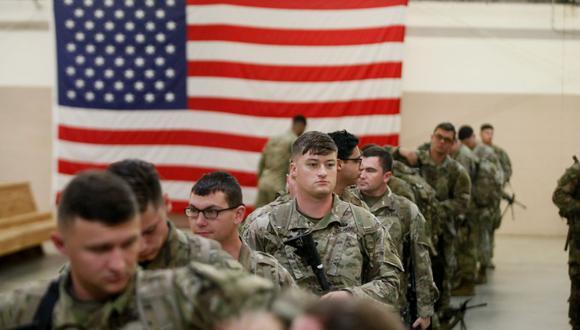 Soldados estadounidense en una base militar. (AFP/Referencial).