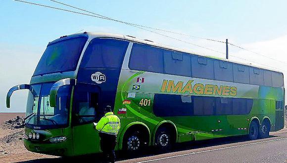 Intervienen bus con pasajeros de Lima